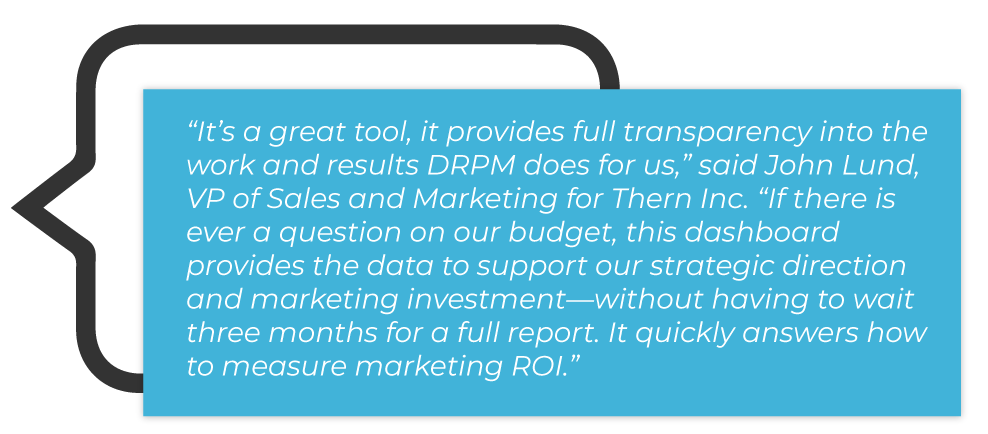 Testimonial 1 DRPM Dashboard